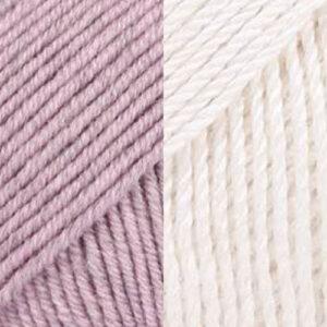 Dusty Pink-Cream White