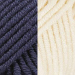 Navy Blue-Cream White
