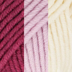 Bordeaux-Pink-Cream White